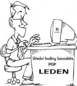 Úřední hodiny kanceláře POP – LEDEN