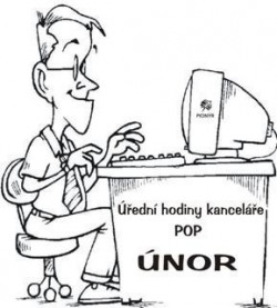 Úřední hodiny kanceláře POP v ÚNORU